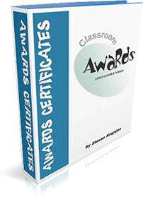 CLASSROOM AWARDS, CERTIFICATES AND PASSES - complete collection of visually attractive classroom awards, certificates and often-used passes.